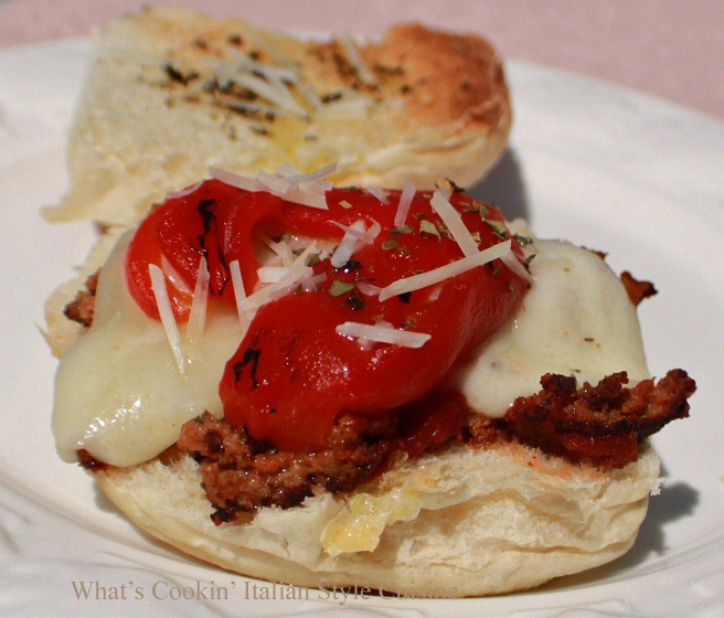 Melted Provolone, Roasted Peppers and Meatball Sandwich Recipe