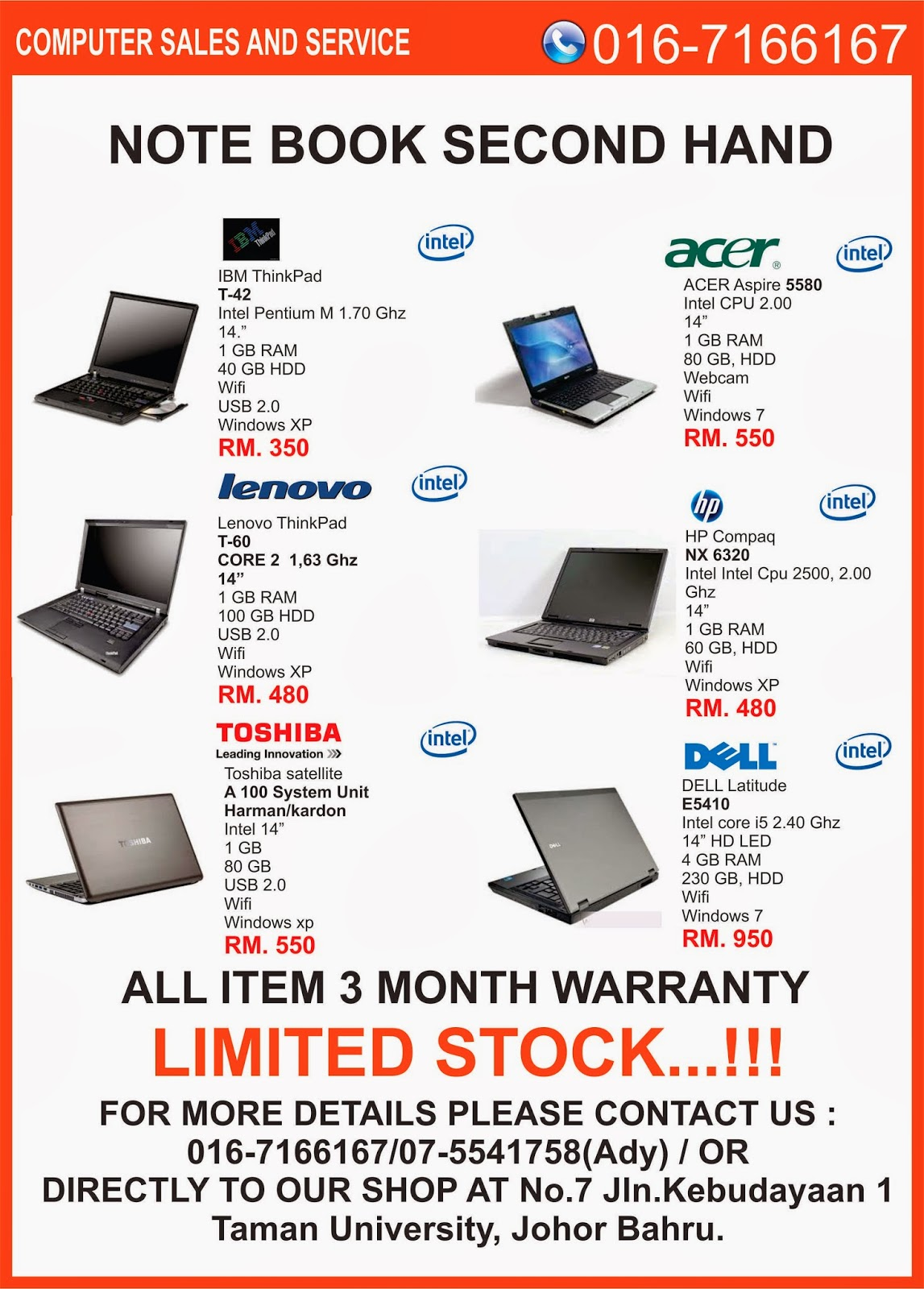 Laptop Murah Komputer Murah Computer Part Baru Terpakai Used Laptop Dell Hp Used Laptops