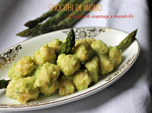 Q.b. - Quanto Basta.: Gnocchi di miglio con pesto di asparagi e mandorle - Gluten Free