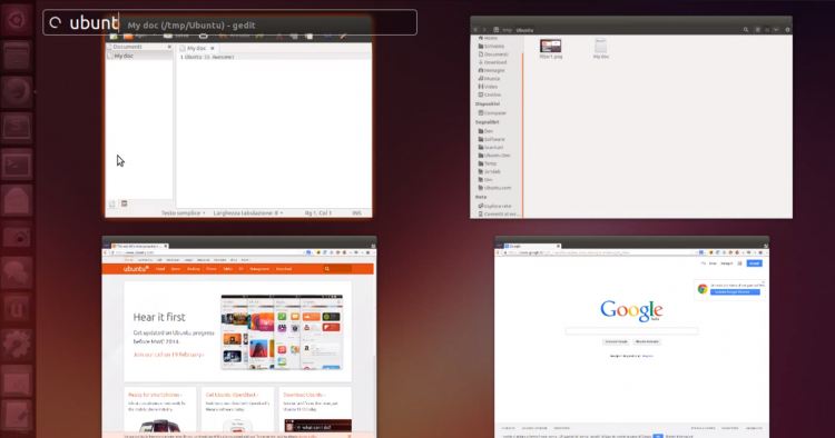 New feature added to Ubuntu 14.04 - filtering App Spread windows by names