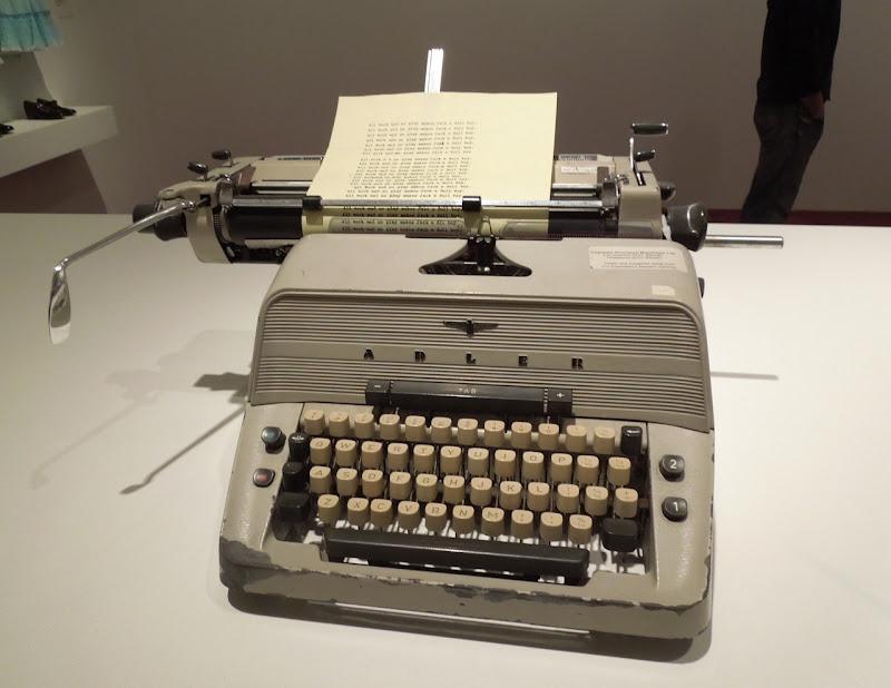 Adler typewriter prop Shining