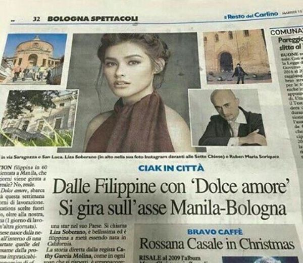 Liza Soberano featured in Italian newspaper