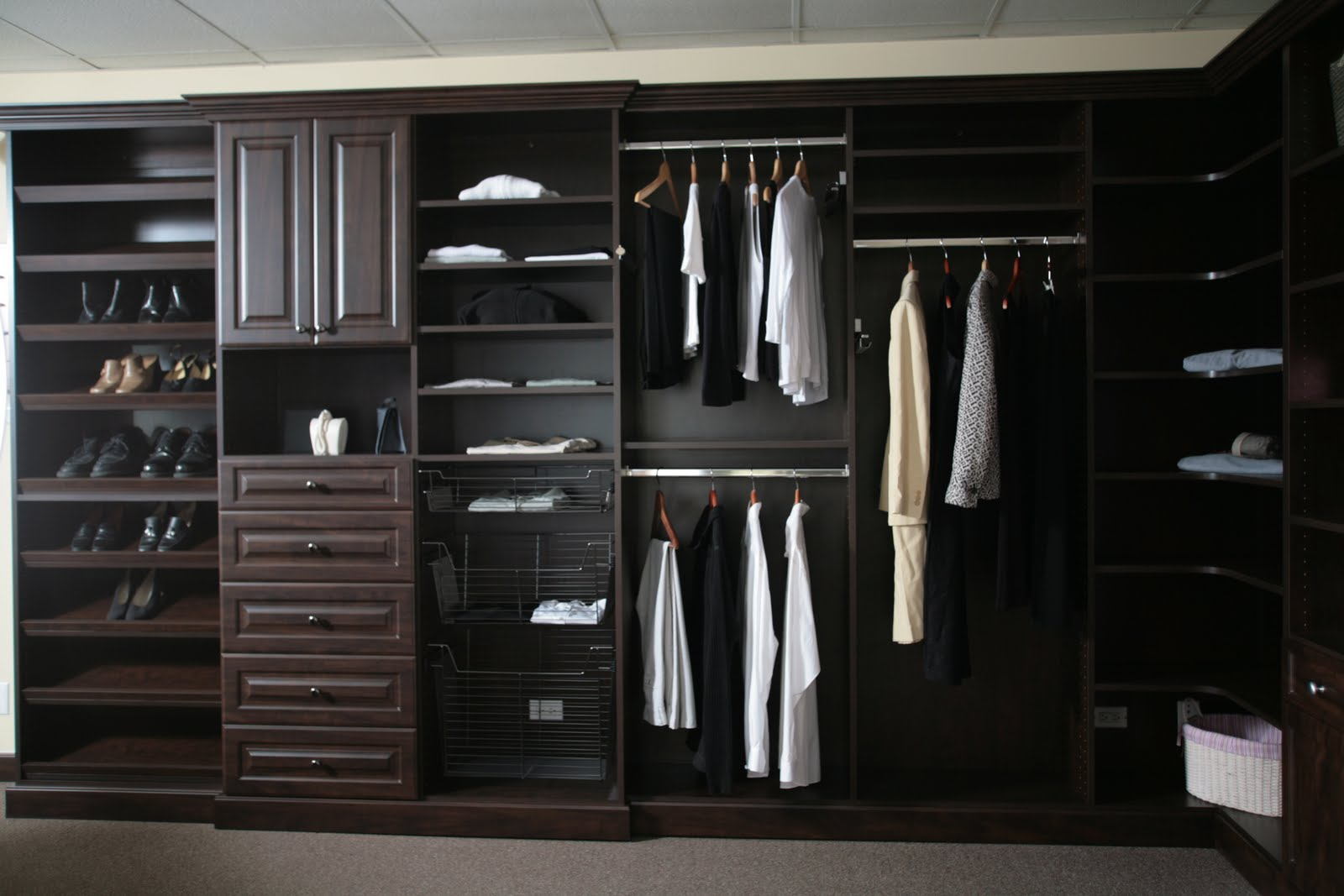 ... Dark Chocolate Kitchen Cabinets By All About Closets And More