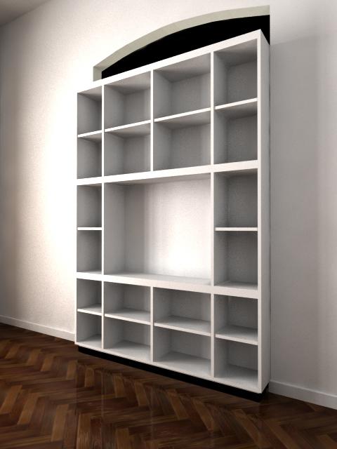 Sergio Alvarez Biblioteca y mueble para tv