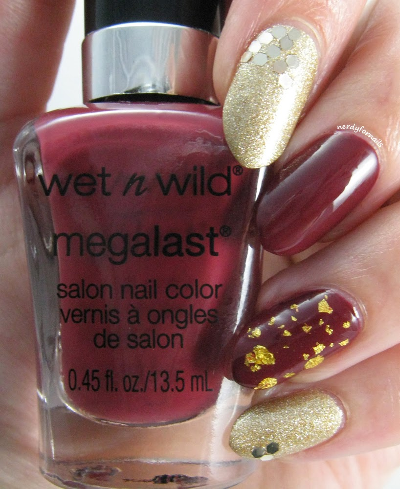 Pantone Color of the Year 2015 Marsala- Wet n Wild Haze of Love and Mentality 24k Gold