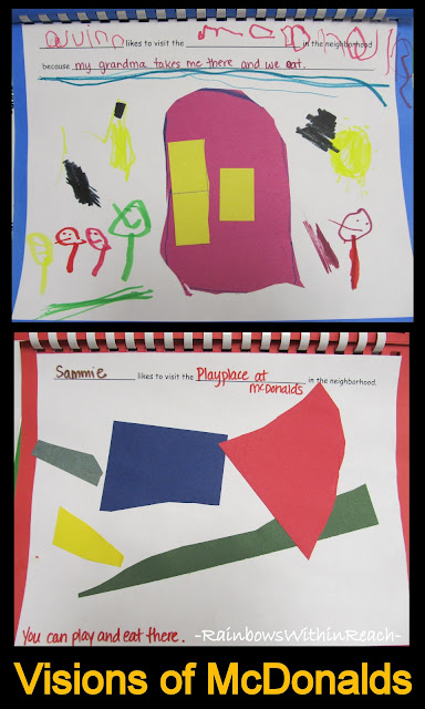 "photo of: Preschool ""Class Book"" Where I like to Visit in the Neighborhood (Children with Special Needs Create Art)"