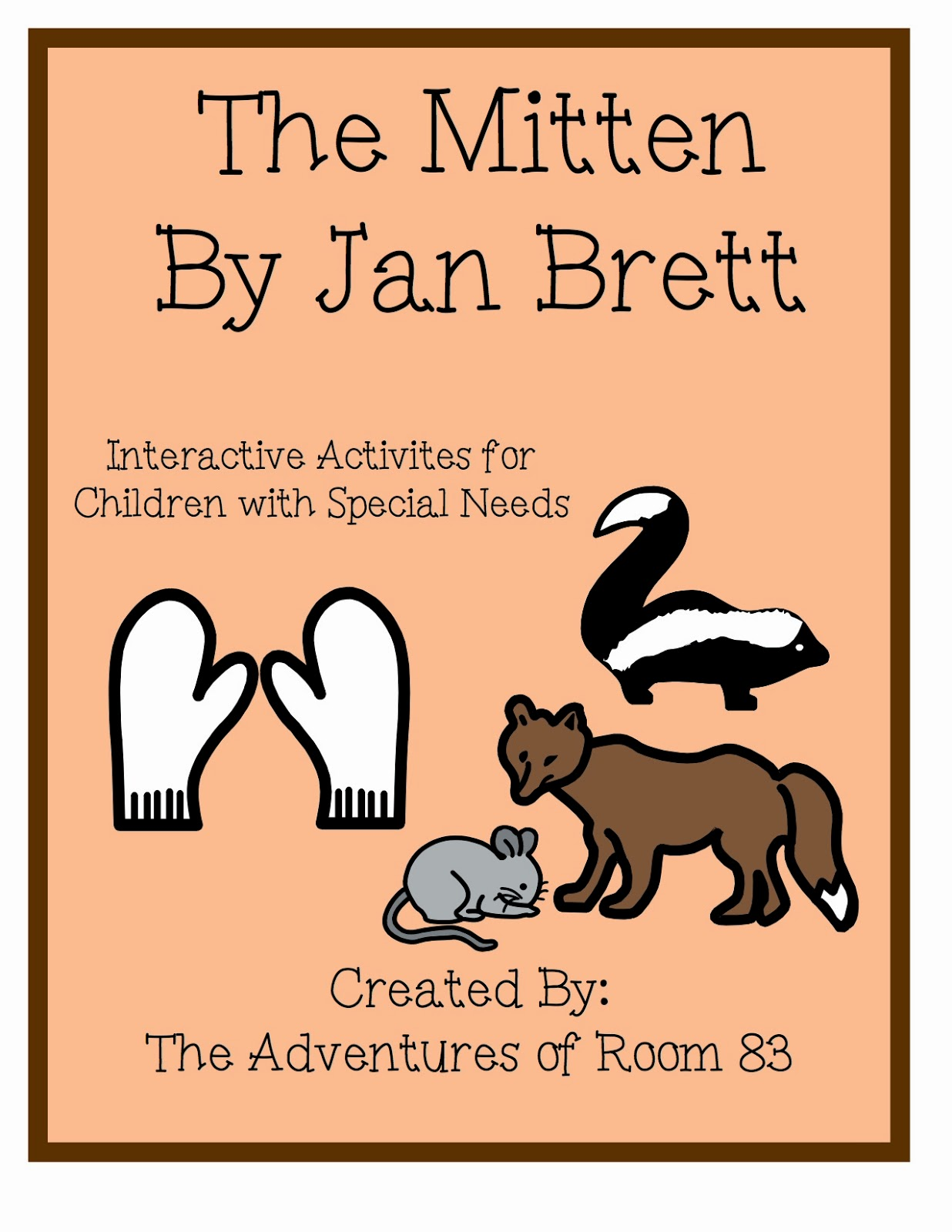 This is a graphic of Lively The Mitten Jan Brett Activities