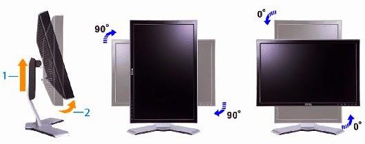LCD Dell 19inc unit terfavorit kaki v bisa naik turun putar 90derajat di Ubermacomputer