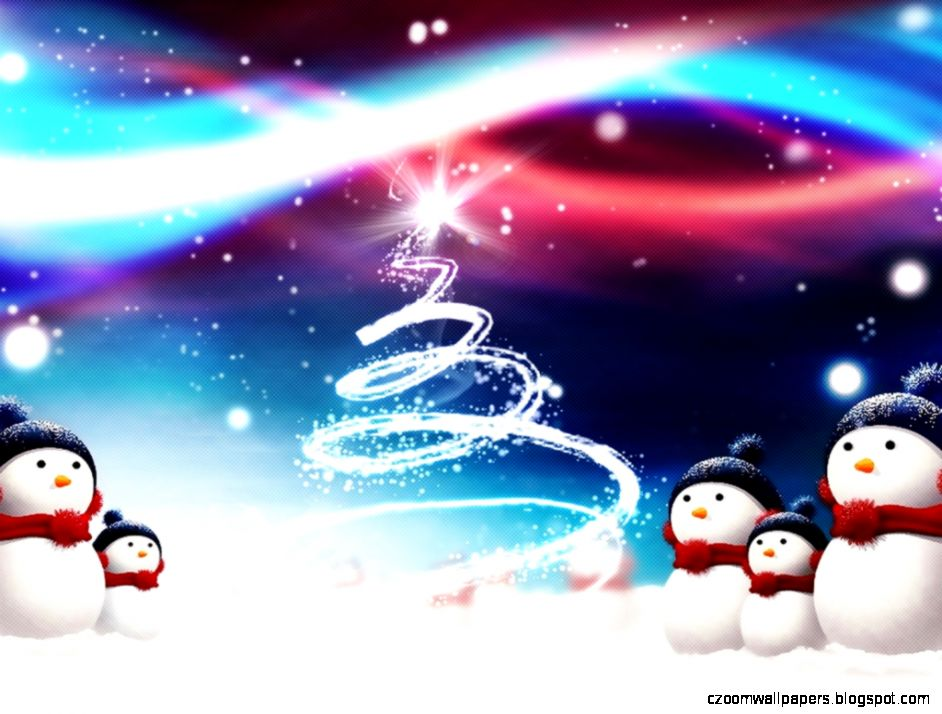 1680 X 1050 HD Christmas Snowman Wallpaper