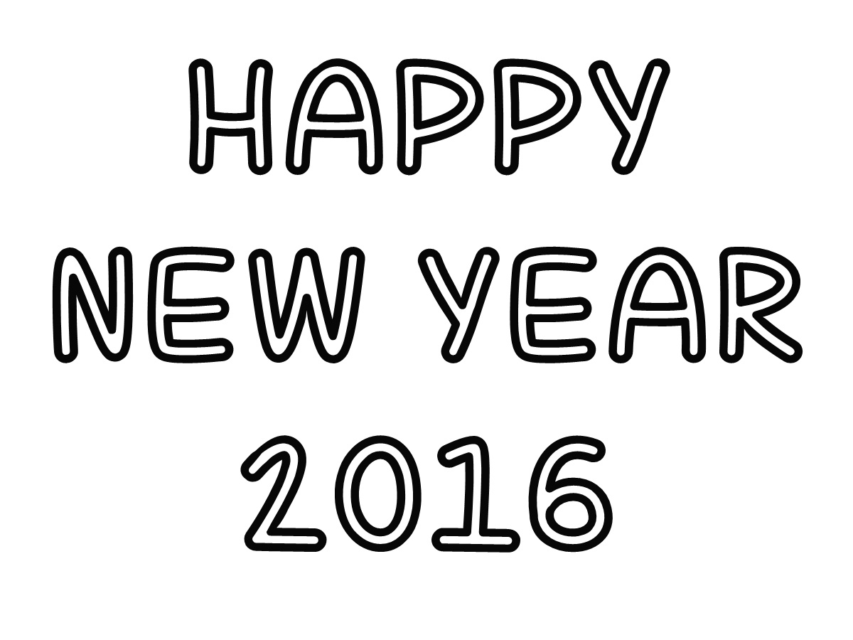 Coloring pages 2016 new year - Happy New Year 2016 Coloring Pages