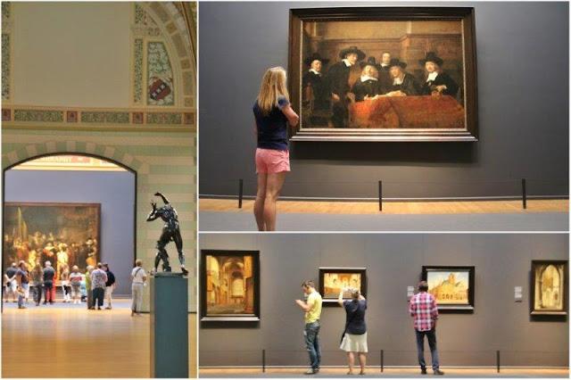 Cuadros en el segundo piso del Rijksmuseum en Amsterdam
