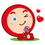 emoticones de pleuche enamorado