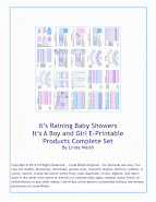 It's Raining Baby Showers It Is A Boy Girl E-Printable Products Complete Set