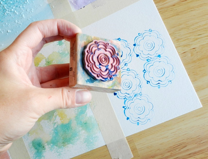 watercolor stamp texture