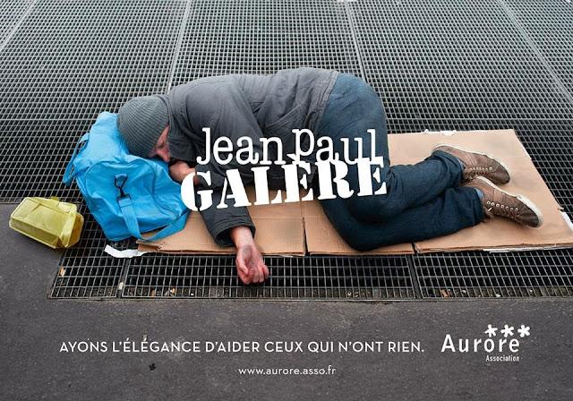 Les marques de luxe détournées dans une campagne choc pour les sans-abris #jeanpaulgalère