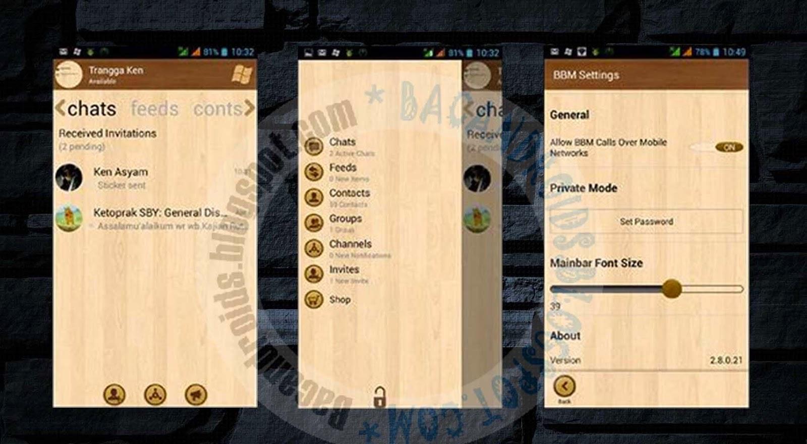 download bbm wood tema kayu terbaru 2.8 apk free
