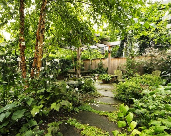 zona del jardín