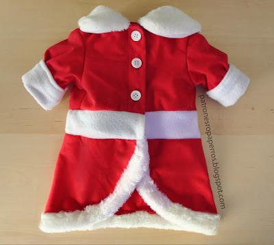 Patrones de vestido de navidad para perro mimi y tara for Hacer papa noel grande