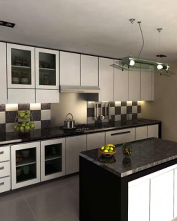 Gambar Dapur Kecil Minimalis Hitam Putih