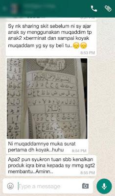 testimoni belajar membaca alquran dengan iqra bina