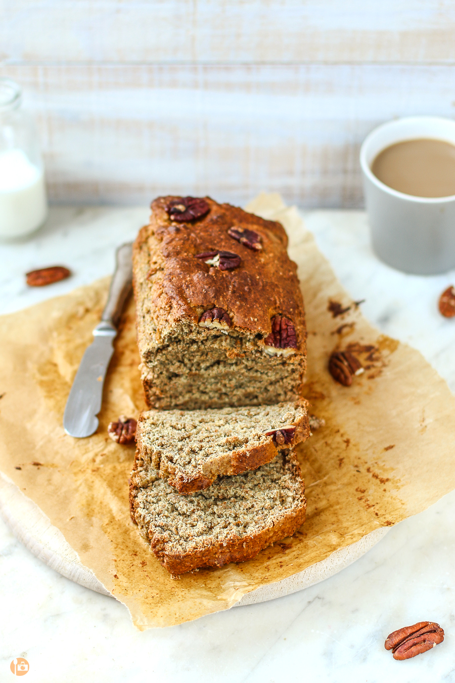 Healthy refined sugar free Banana Bread