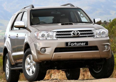Front View of This Toyota Fortuner 4WD MT 2012 Cars Images