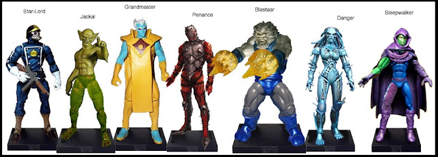<b>Wave 2</b>: Star-Lord, Jackal, Grandmaster, Penance, Blastaar, Danger and Sleepwalker