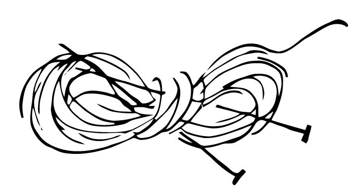 Knitting Needles Drawing : Ephemeraphilia free vector art knitting needles and yarn