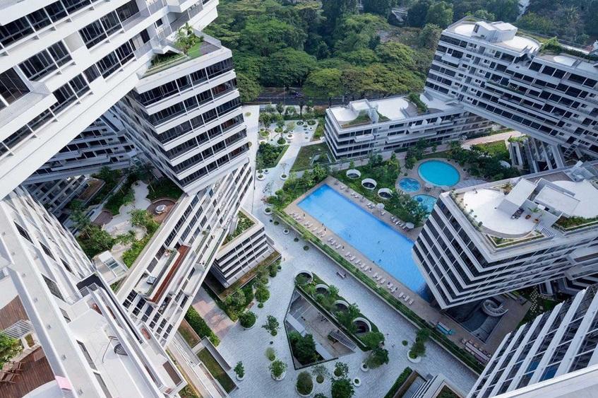edificio entrelazado the interlace oma singapur