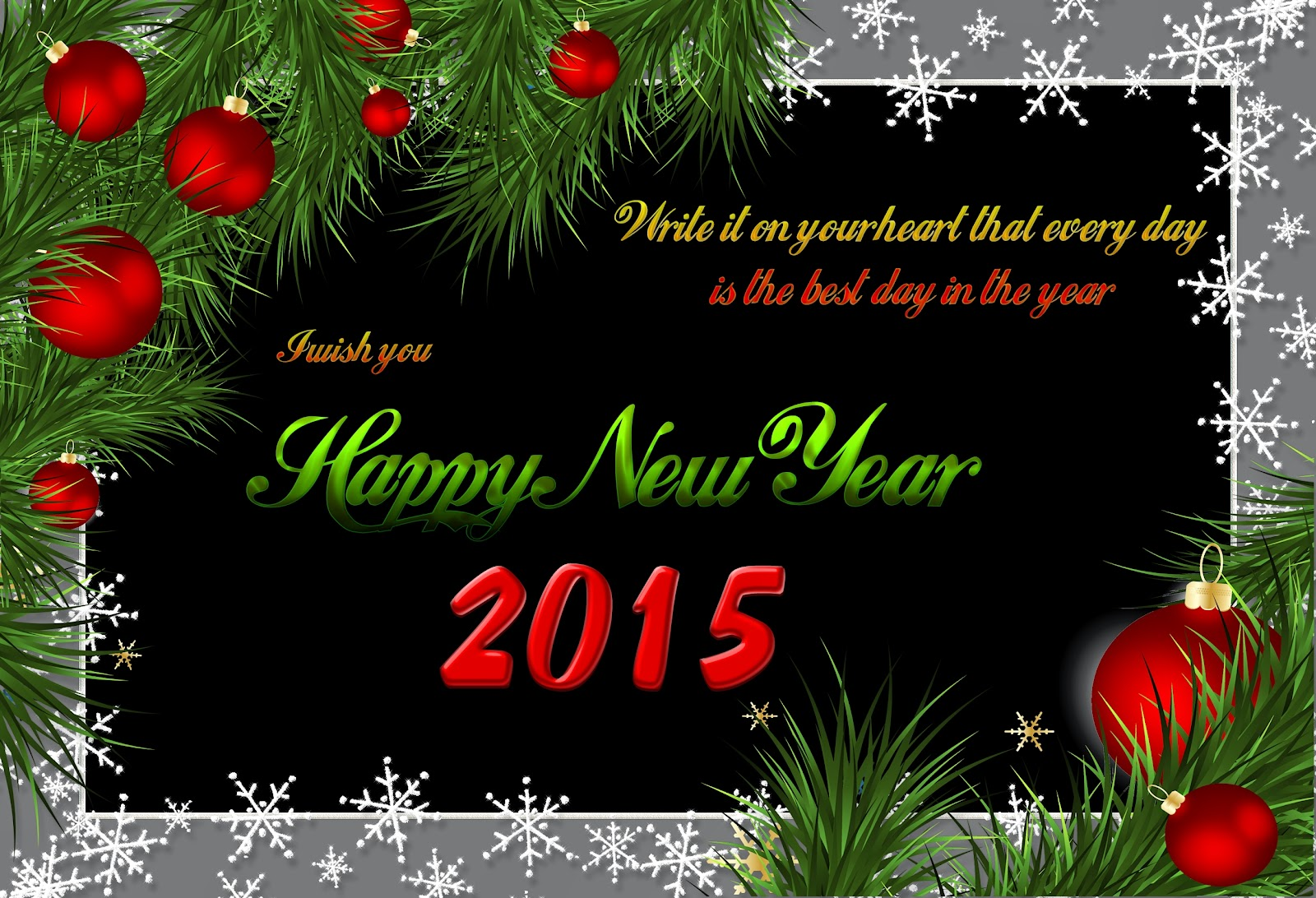 Beautiful Happy New Year Wishes eCards 2015 Royalty Free Images