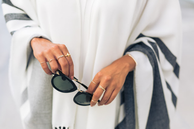 how to stack rings, styling ponchos, fall fashion, pursuit of shoes