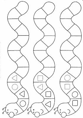figuras geométricas,minhoca,Atividades com: FIGURA FUNDO, COMPLETAR A FIGURA e COMPLETAR A SEQUÊNCIA.educação infantil,anos iniciais,coordenação motora fina