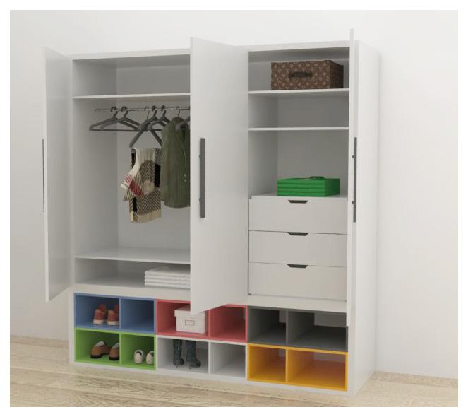 Ropero de melamine modelo nro 1 melamine for Modelos closets para dormitorios