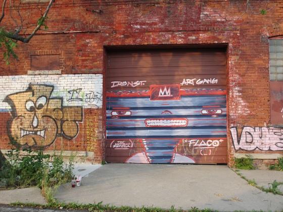 Iron Sreet Art Gang Mural by Flaco