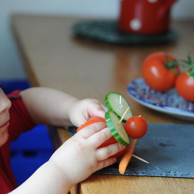 bonshommes légumes