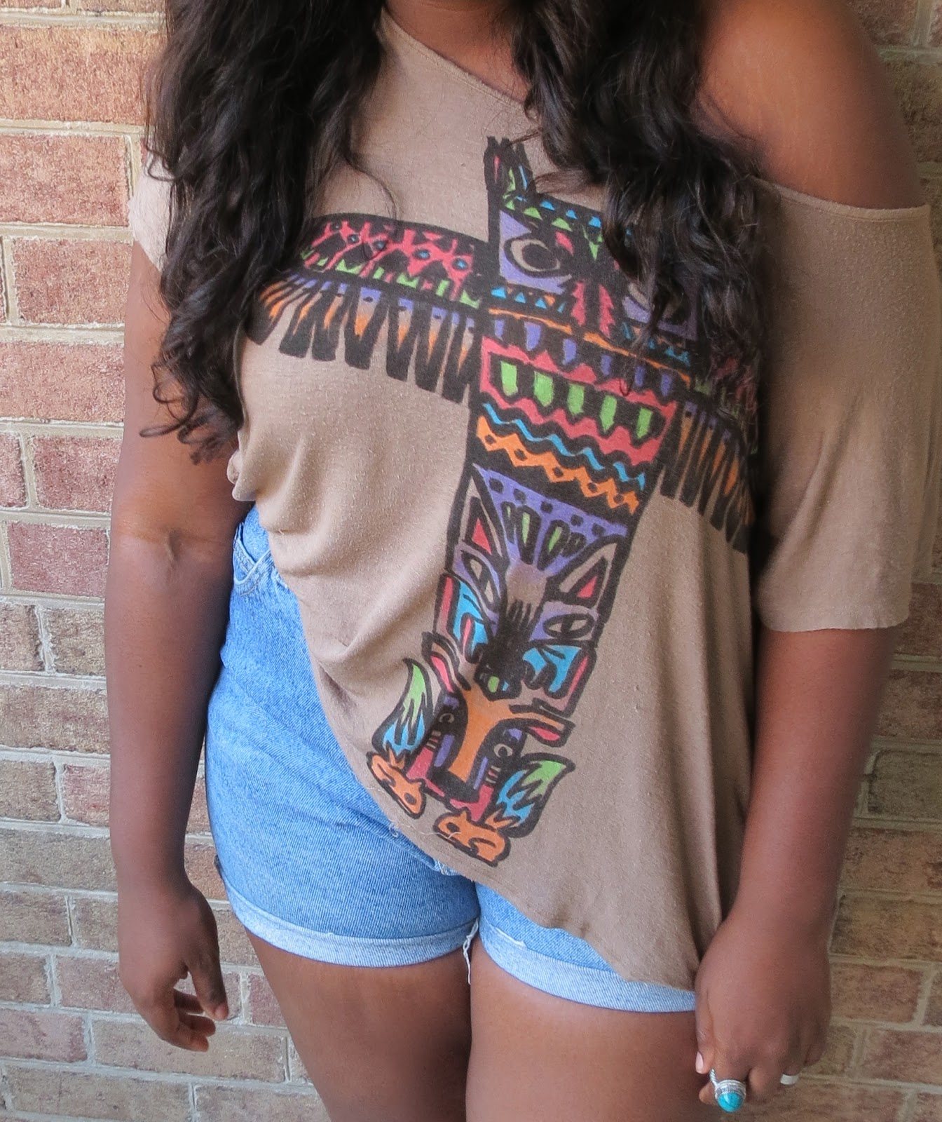 summer style, supplechic, cutoffs, turquoise, TRIBAL PRINT