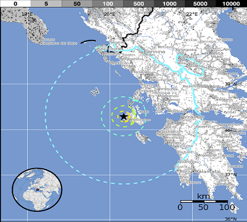 Lixourion_Greece_Earthquake_epicenter_map