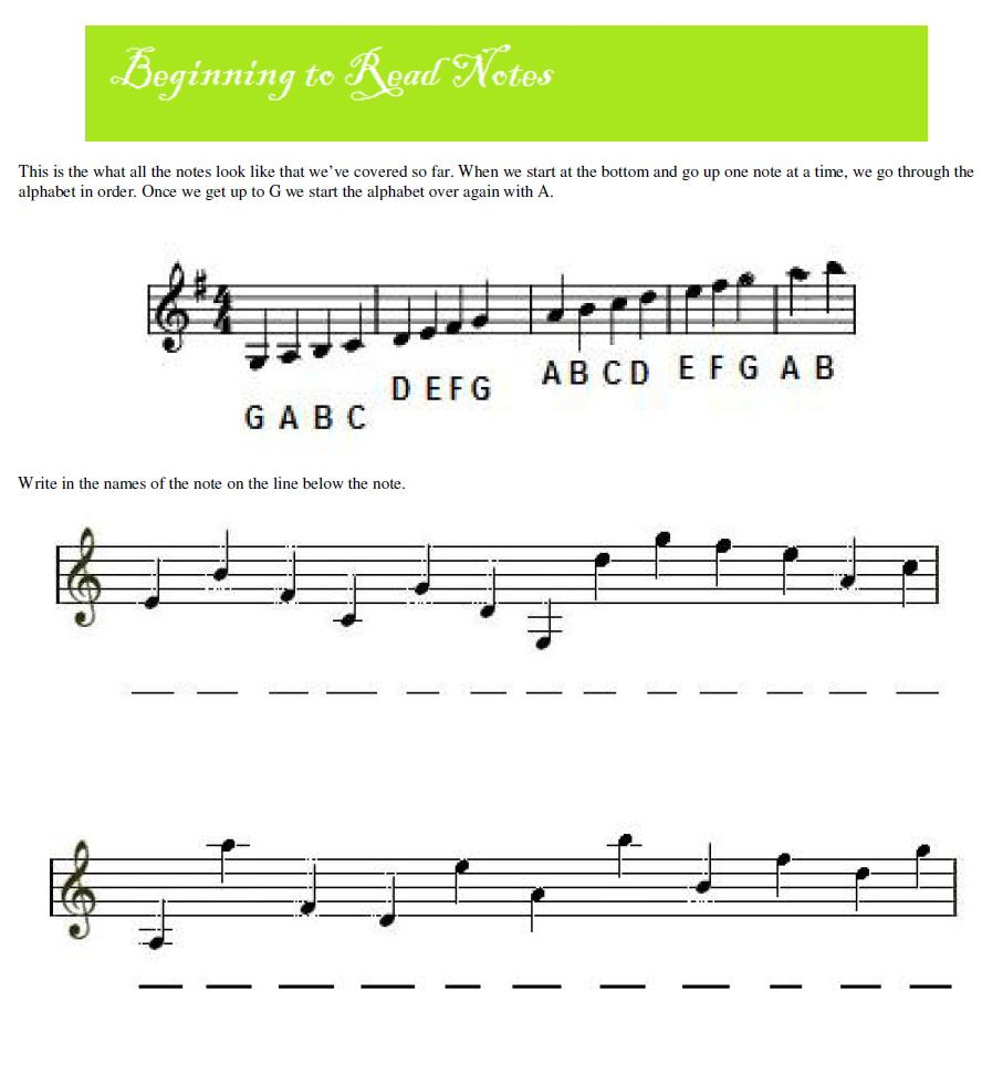 Beginning Piano Note Recognition Worksheet | Worksheets, Note and ...