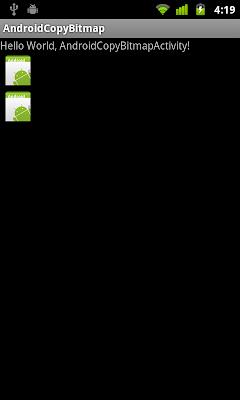 Copy bitmap using getPixels() and setPixels()