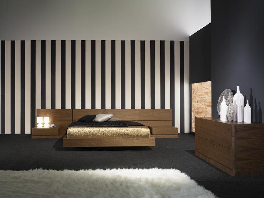 Dormitorios con paredes empapeladas cocinas modernas - Paredes dormitorios matrimonio ...