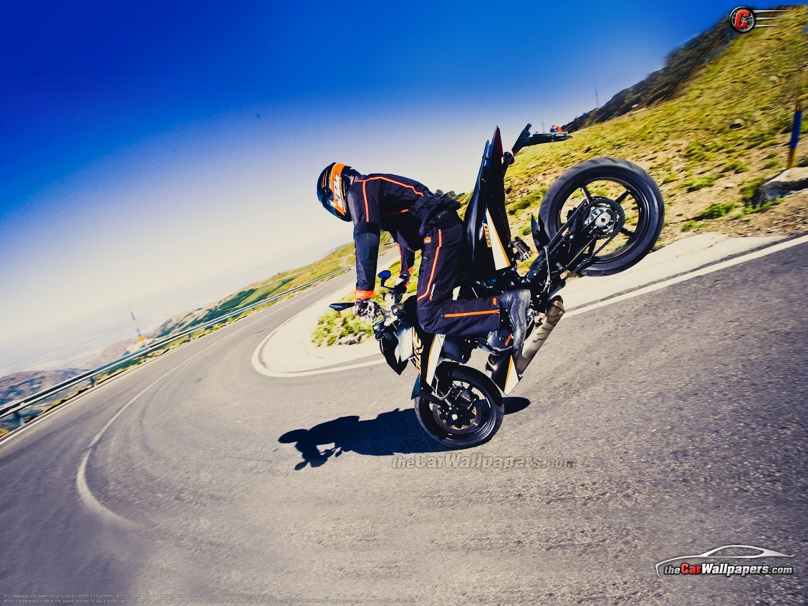 hd wallpapers: bike stunt