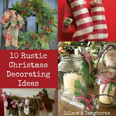 10 rustic christmas decorating ideas lilacs and Simple christmas outdoor decorating ideas