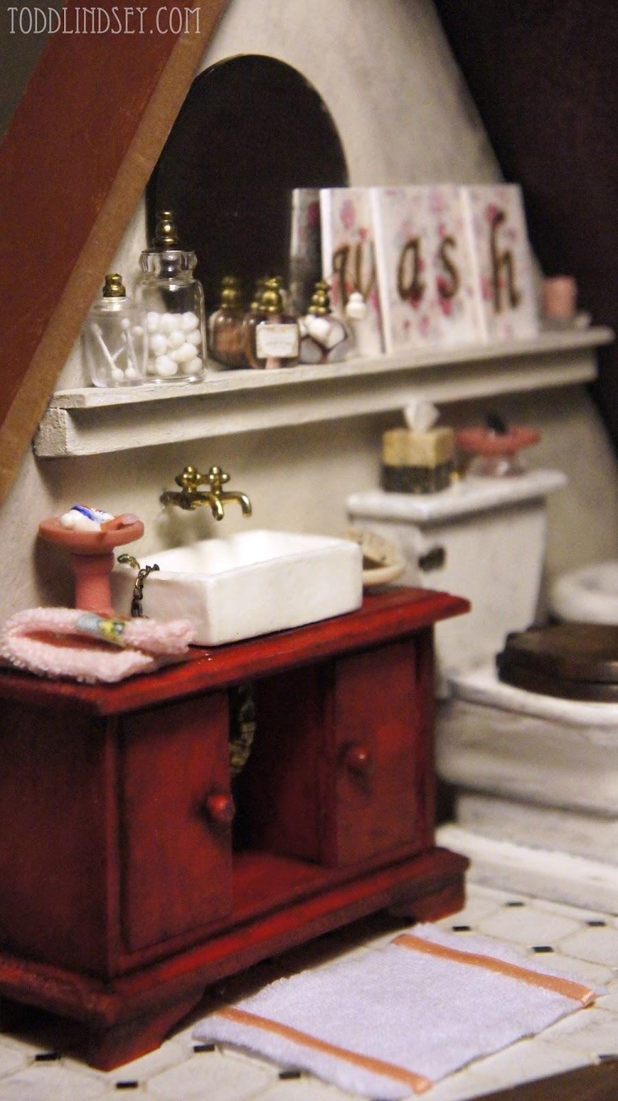 Dollhouse Bathroom Reveal. Todd  amp  Lindsey  Dollhouse Bathroom Reveal