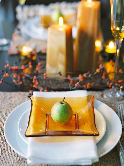 Modern furniture thanksgiving table setting and