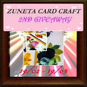 Zuneta card craft 2nd giveaway