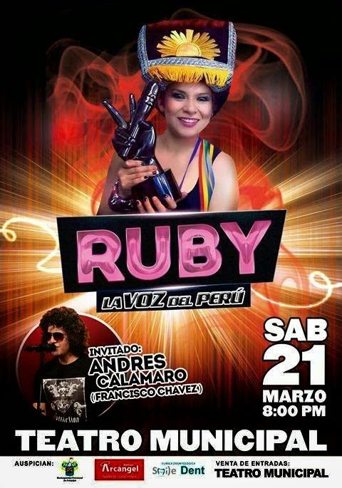 Ruby Palomino en Arequipa