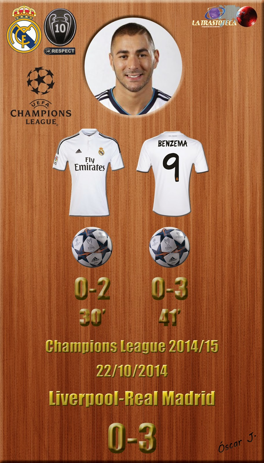 Bencema - Doblete - Liverpool 0-3 Real Madrid - Champions League 2014/15 - (22/10/2014)