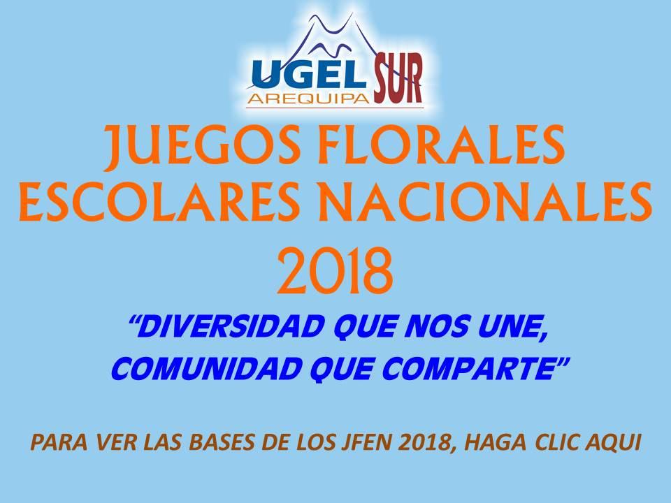 JUEGOS FLORALES ESCOLARES NACIONALES 2018