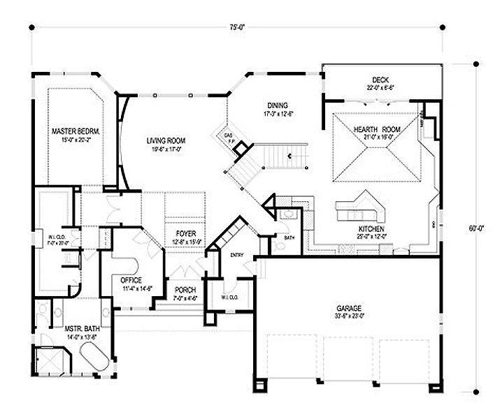 Pz c planos de casas - Planos de casas de una planta ...