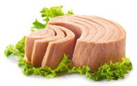 tuna steak with garnish